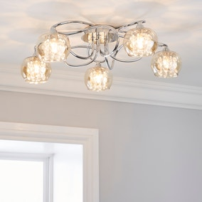 Seychelles Chrome 5 Light Ceiling Fitting
