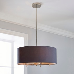 Captivating 5A Fifth Avenue Edmonton Nickel 5 Light Ceiling Fitting