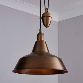 Dorma Farrington Bronze Rise and Fall Ceiling Fitting