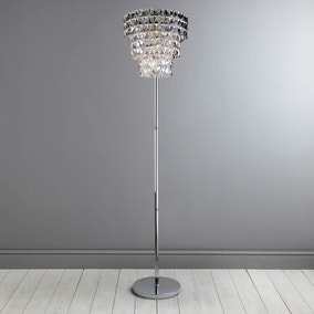 Clares Chrome 3 Tier Floor Lamp
