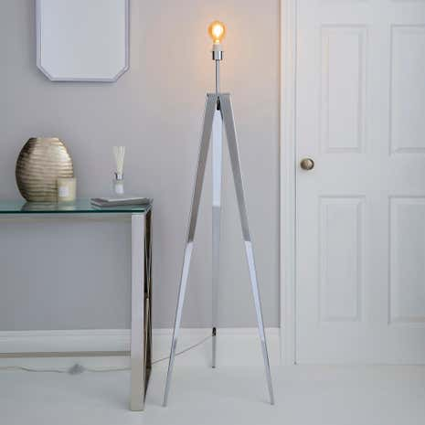 5A Fifth Avenue Hughes Chrome Tripod Floor Lamp
