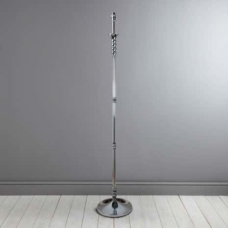 Reims chrome glass stem floor lamp base dunelm reims chrome glass stem floor lamp base aloadofball Images
