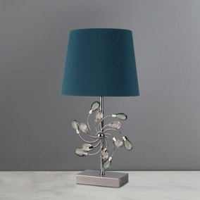 Catherine Teal Table Lamp