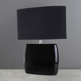 Jaco Black Oval Table Lamp