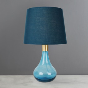 Muaro Teal Glass Table Lamp