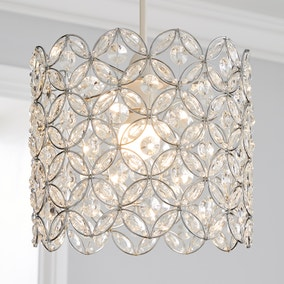 Arden Floral Chrome Pendant Fitting
