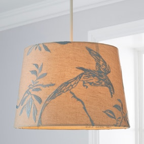 Songbird Duck Egg Embroidered Shade