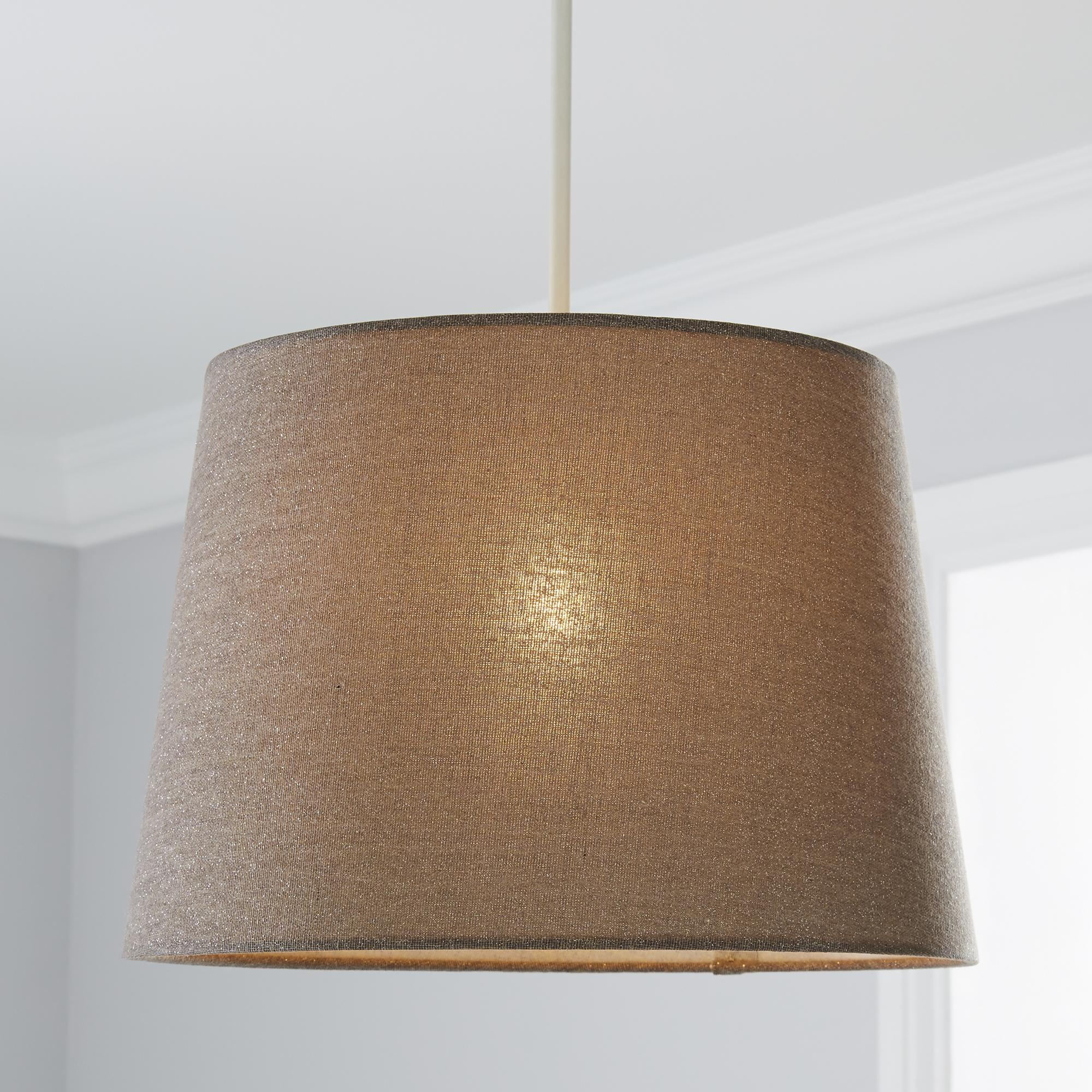 Dunelm Wall Lamp Shades : Grey Shimmer Light Shade Dunelm