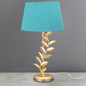 Faro Golden Leaf Table Lamp