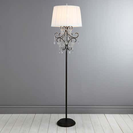 Adelaide Shabby Chic Bronze Floor Lamp