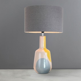 Elements Zadar Dipped Grey Table Lamp