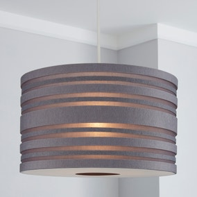 Elements Grey Felt Drum Light Shade