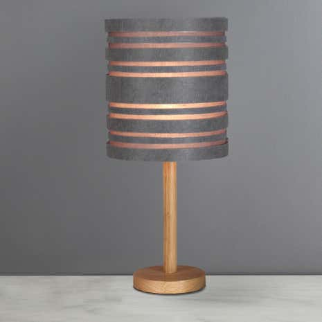 Elements austin grey table lamp dunelm elements austin grey table lamp aloadofball Image collections