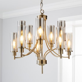 Augusta Satin Brass 10 Light Ceiling Fitting
