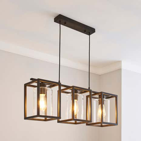 London Bronze 3 Light Fitting Dunelm