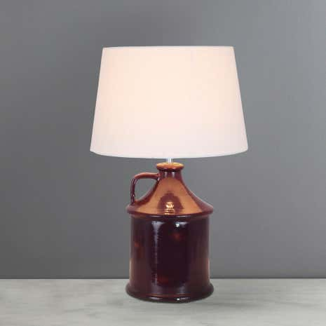 Ronda Ceramic Jug Mauve Table Lamp