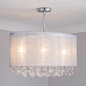 Lancelin Silver Mesh 3 Light Fitting