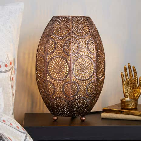 Rosario moroccan table lamp dunelm rosario moroccan table lamp aloadofball Image collections
