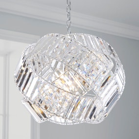Monsanto Chrome Wedding Band Light Fitting