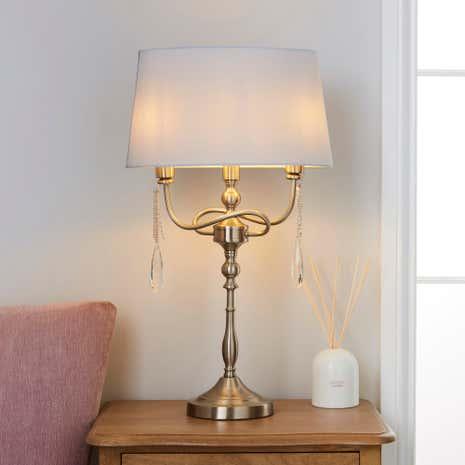 vientiane 2 light table lamp dunelm. Black Bedroom Furniture Sets. Home Design Ideas