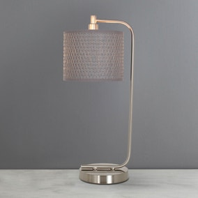 Bailey Grey Table Lamp