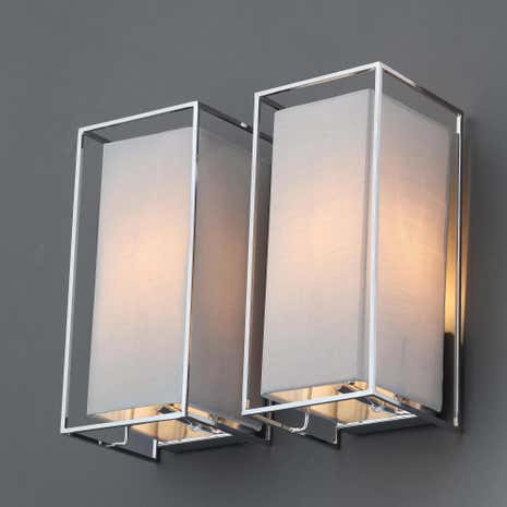 Wall lights wall mounted lighting dunelm 5a fifth avenue lasko set of 2 grey wall light fittings aloadofball Image collections