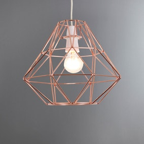 Bremen Geometric Copper Pendant