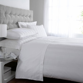 5A Fifth Avenue Egyptian Cotton 300 Thread Count Stripe White Duvet Cover