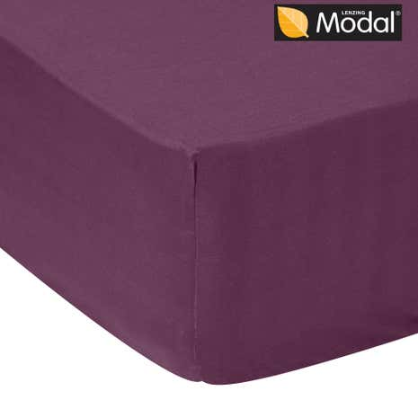 5A Fifth Avenue 300 Thread Count Modal Plum Fitted Sheet