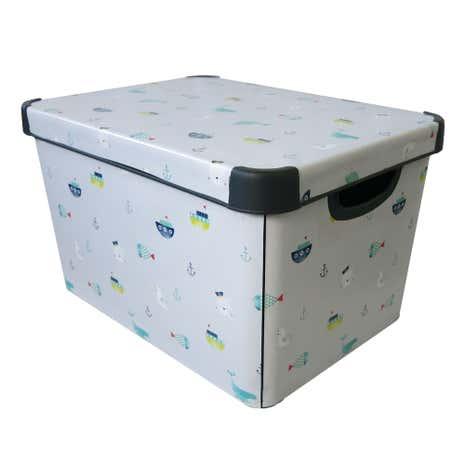 Ahoy There Blue Storage Box Loz 20 Percent Off Ws15