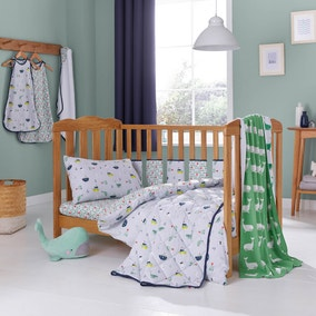 Ahoy There Cot Bed Duvet and Pillowcase Set