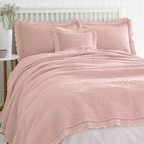 Lace Edge Blush Bedspread