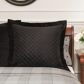Dorma Kensington Black Velvet Continental Pillowcase