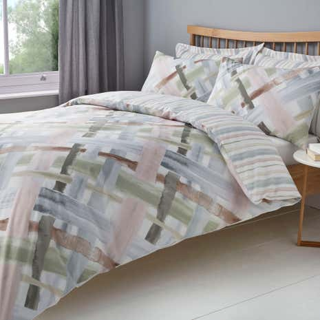 Elements Ainsley Reversible Duvet Cover and Pillowcase Set