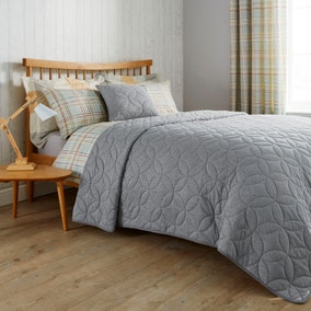 Elements Grey Quilted Bedspread