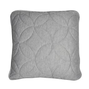 Elements Quilted Grey Jersey Cushion
