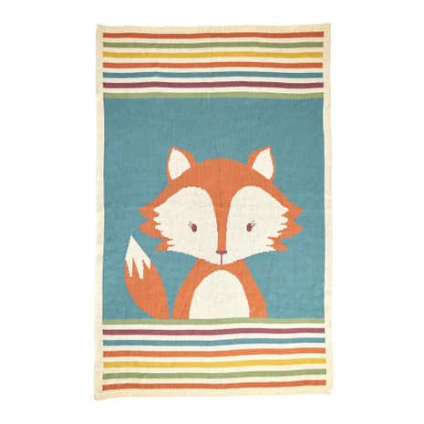 Fox Knitted Throw
