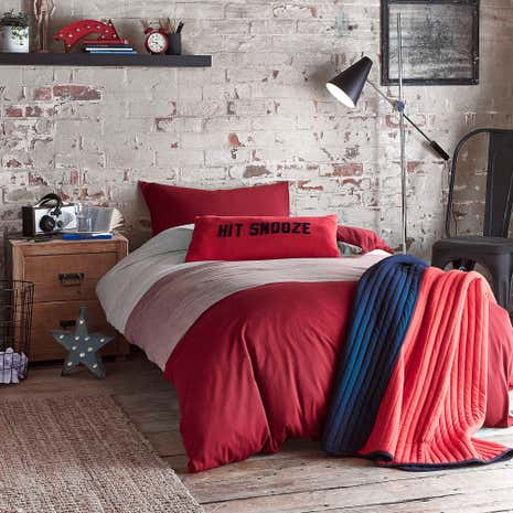 Jersey Red Bedding Set