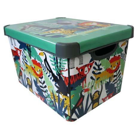 metal storage box with lid. jungle storage box metal with lid