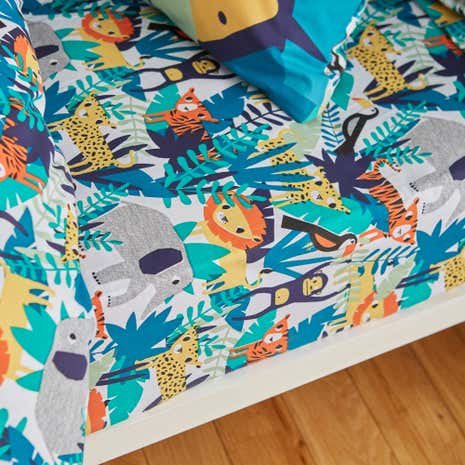 Jungle Friends Fitted Sheet