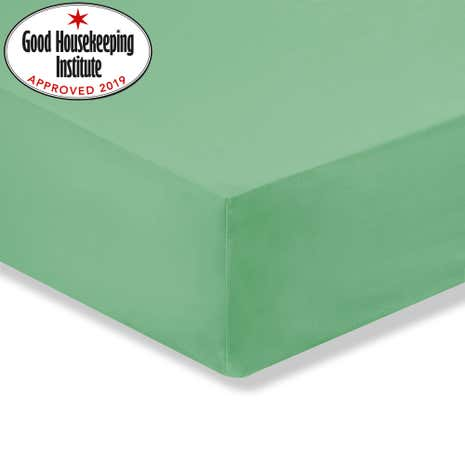 Kids Non Iron Green Cot Bed Fitted Sheet