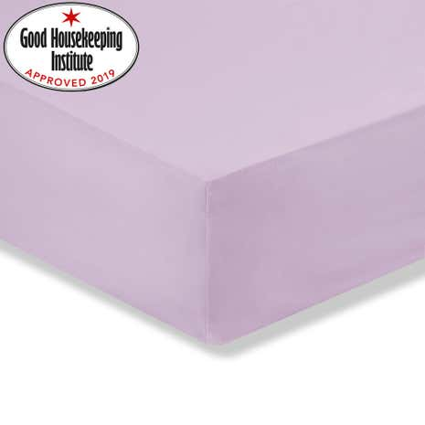 Kids Non Iron Fitted Sheet Cot Bed Lilac