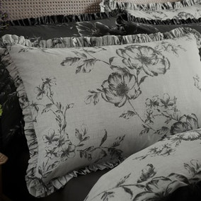 Pivoine Grey Oxford Pillowcase