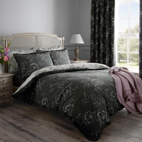 Pivione Grey Duvet Cover and Pillowcase Set