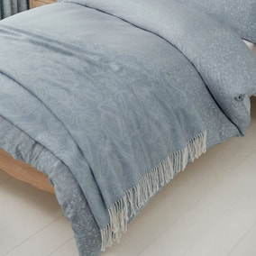 Marsella Blue Jacquard Cotton Throw