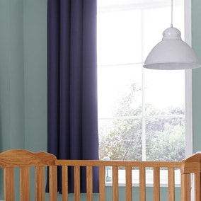 Navy Blackout Pencil Pleat Curtains