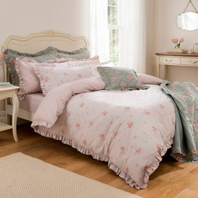 Rosie Pink Reversible Duvet Cover Set