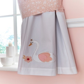 Swan Princess Blush Blackout Pencil Pleat Curtains