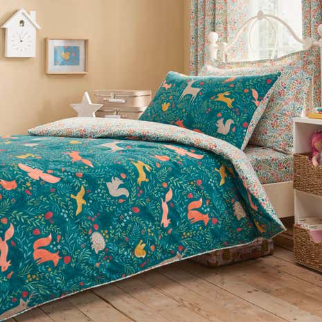 Woodland Ditsy Duvet Cover and Pillowcase Set