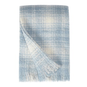 Mist Check Faux Mohair Throw